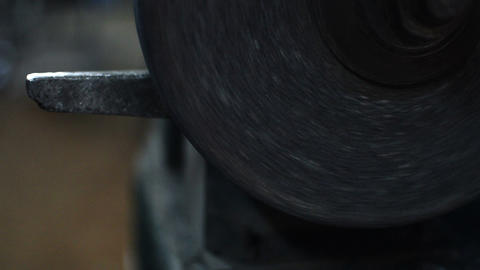 Close Up of Grinding Stone Electric Tool Animation
