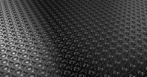 Metal elements motion loop background Stock Video Footage