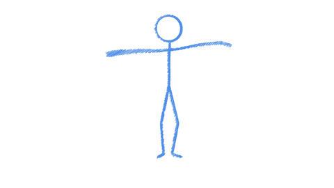 Stickman Hip Hop Dance Sketch, Stock Animation