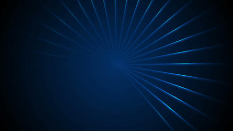 Glowing blue neon loading waiting lights rays video animation Animation