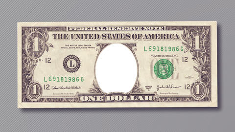 One dollar bill for your photo or picture Animation