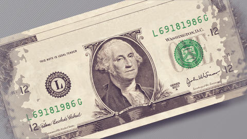 One dollar bill Animation