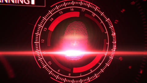 Fingerprint scanning technology Animation