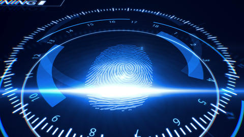 Abstract Fingerprint Scanning Animation