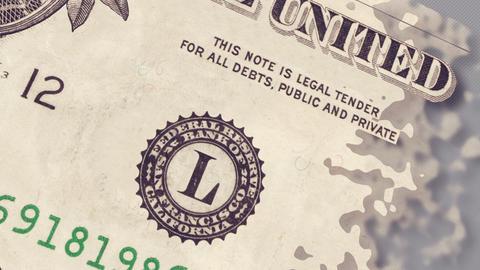 One dollar bill Animation