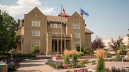 Hyperlapse of Government House at the Royal Alberta Museum in Edmonton, Alberta Footage