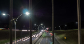Motion time lapse of freeway from overpass Live影片
