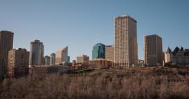 Long Hyperlapse of Edmonton Skyline on sunny afternoon Footage