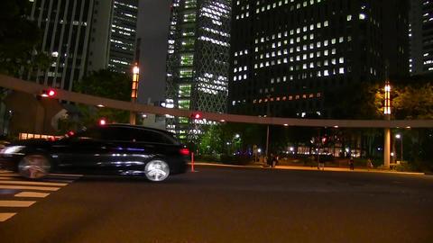 Night nishi-shinjuku crossing Footage