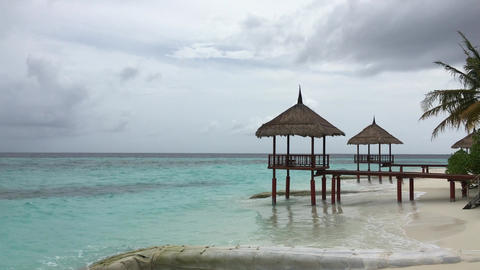 MALDIVES - Hear the sound of waves Footage