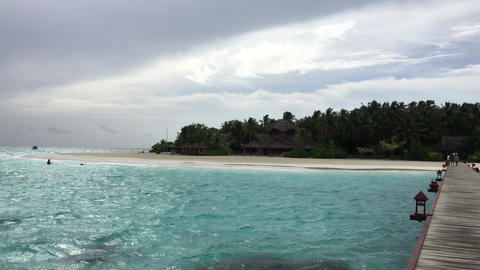 Male View of Maldives Islands Footage