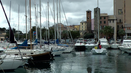Europe Italy Liguria Savona 001 sailing boats in the marina Footage