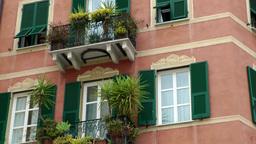 Europe Italy Liguria Savona 005 typical Italian house facade Footage