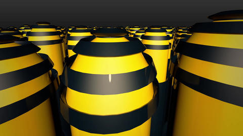 Abstract background with yellow capsule Animation