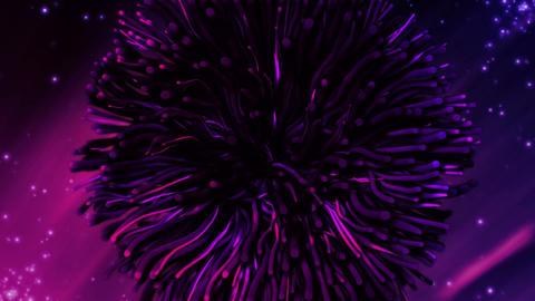 Abstract purple particles Stock Video Footage