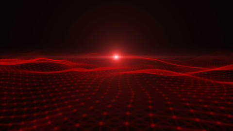 Red particle dimension space background Animation