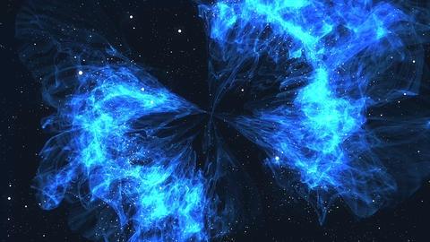 Fly around Blue nebula Animation