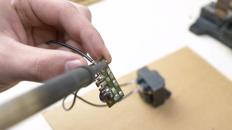 Soldering Electronic Components Footage