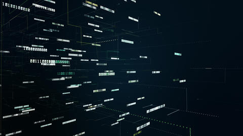 Security digital data and conceptual futuristic at…, Stock Animation