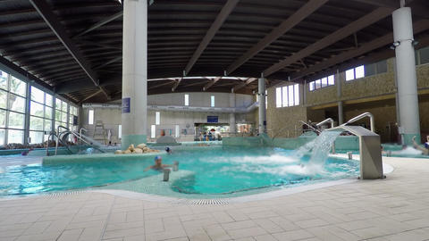SPA Pool Shot Wide With No Recognizeable People Footage