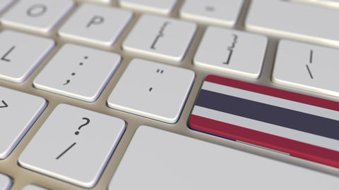 Key with flag of Thailand on the computer keyboard switches to key with flag of Live Action