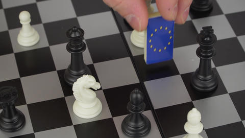 chessboard with flags of countries Footage
