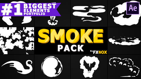 Dynamic Cartoon Smoke After Effects Template