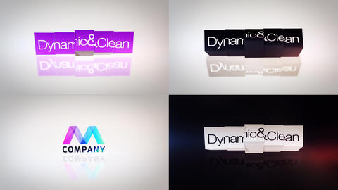 Flip Titles Logo Reveal After Effects Template