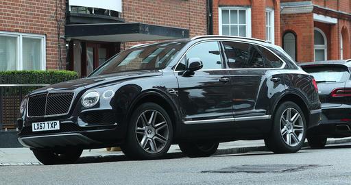 Black Bentley Bentayga SUV Live Action