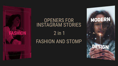 Instagram Stories Slideshow Premiere Proテンプレート