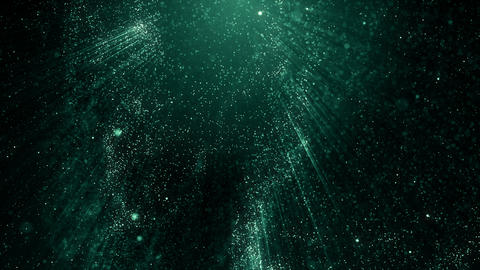 Particles blue bokeh dust abstract light motion titles cinematic background loop Animation