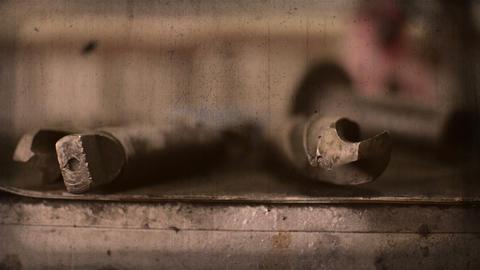 Close up shot of Metal Drill Bit Animation