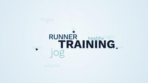 training runner jog healthy jogger lifestyle fit fitness sport exercise female Live Action