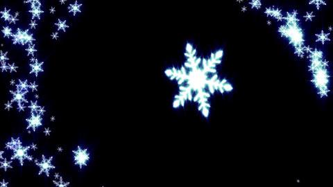 雪結晶 アニメーション CG動画
