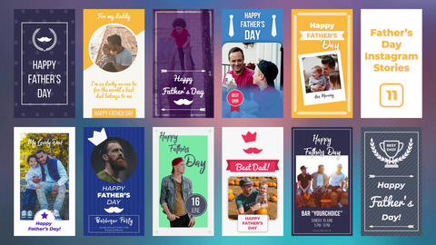Father's Day Instagram Stories After Effects Template