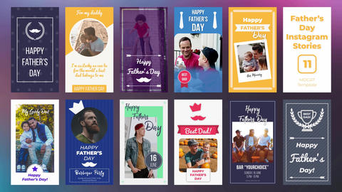 Father's Day Instagram Stories Motion Graphics Template