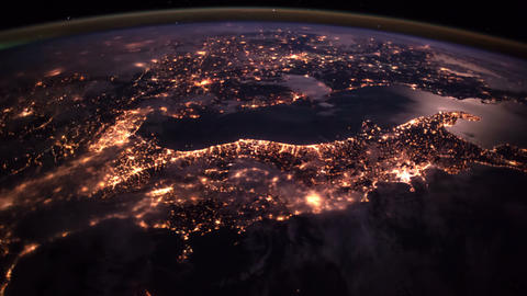 Planet Earth seen from the ISS. Elements of this video furnished by NASA GIF