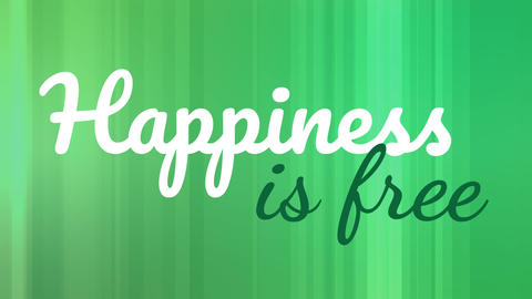 Animation of happiness is free with green stripe backdrop Animation