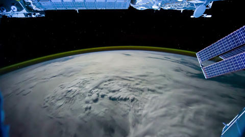 Planet Earth seen from the ISS. Elements of this video furnished by NASA Live Action