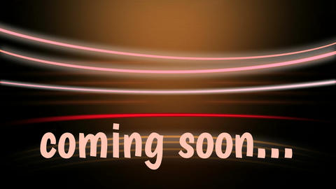 Coming soon written in beige Animation