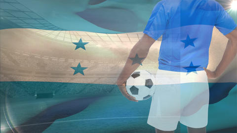 Soccer player of Honduras Animation