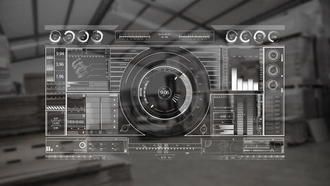 Digital dj equipment with a warehouse background Animation