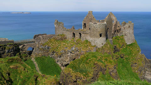 Dunluce Castle in Northern Ireland - a famous movie location Footage