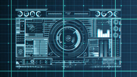 Digital dj equipment with a grid background Animation