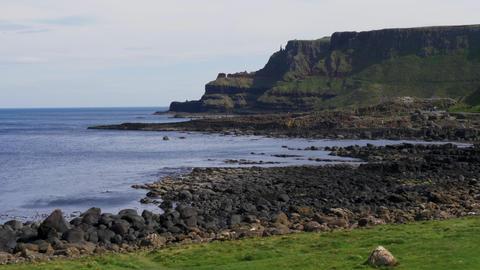 Beautiful Giants Causeway Coast in Northern Ireland Footage