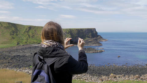 Giants Causeway - a popular landmark in Northern Ireland Live Action