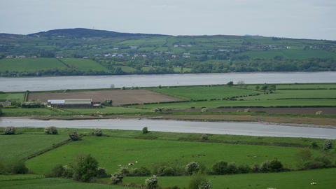 Panoramic view over the Irish landscape Footage