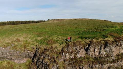 Wonderful landscape of Binenenagh in North Ireland Footage