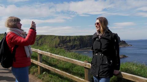 Giants Causeway - a popular landmark in Northern Ireland Live Action