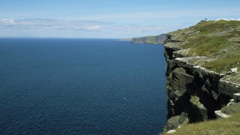 Amazing Cliffs of Moher at the Irish west coast Live Action
